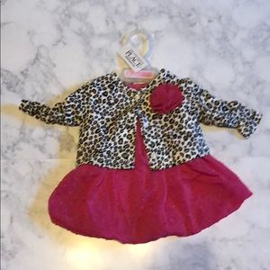 Baby girls dress with sweater